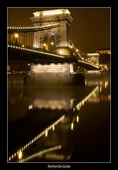 Budapest (nune) Tags: longexposure travel bridge light vacation reflection night river dark hungary budapest kettenbrücke 2010 donau széchenyilánchíd platinumheartaward