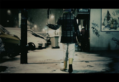Yellow boots (Dr Cullen) Tags: madrid snow girl nikon bokeh cinematic yellowboots 35mmf18 drcullen d300s nikond300s