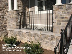 "Dusty Gray European Cobblestone columned porch with form stones and hearthstones • <a style=""font-size:0.8em;"" href=""http://www.flickr.com/photos/40903979@N06/4287651507/"" target=""_blank"">View on Flickr</a>"