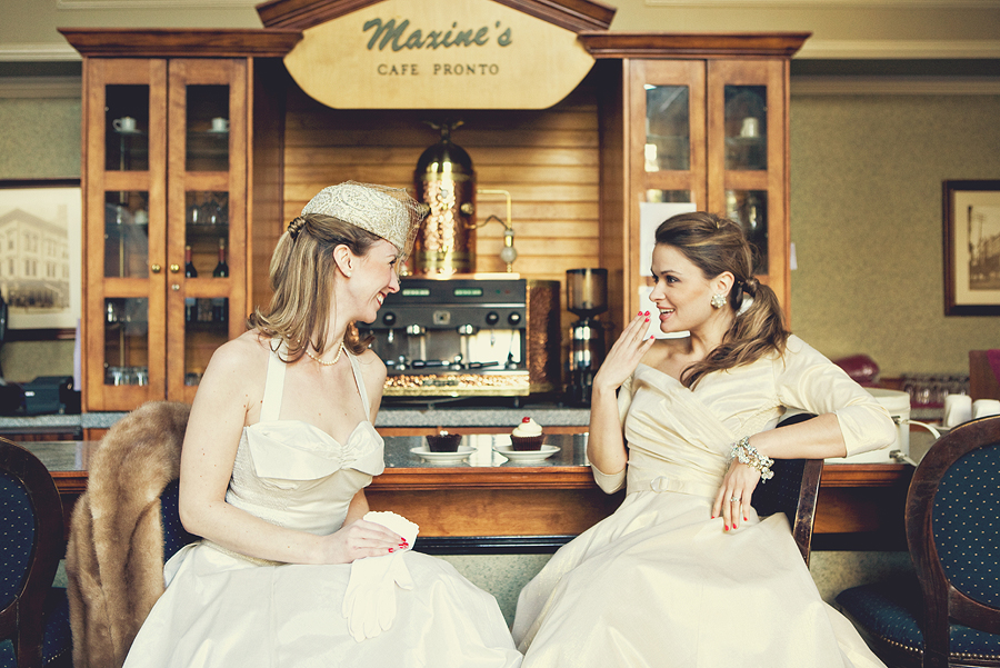 Vintage shoot for The Brides Cafe.com
