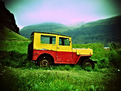 Lomo style old car (josche) Tags: auto old car island iceland lomo lomography altes lomografie