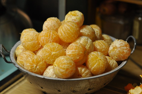 colander of clementines