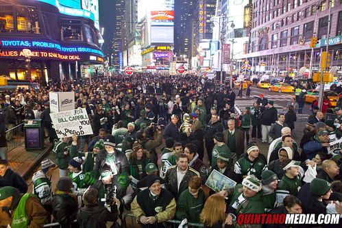 New York Jets Times Square Pep Rally