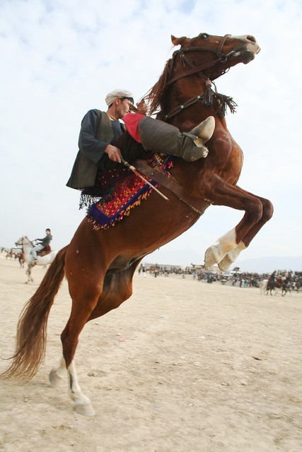 A man and his horse, Buzkashi, Afghanistan