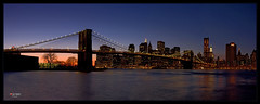 Sunset in Manhattan - NYC (Fejo) Tags: new york nyc bridge panorama ny apple basketball yellow ferry brooklyn night canon garden square liberty island eos big downtown skyscrapers manhattan cab midtown uptown madison jersey avenue 5th 7th staten knicks 24105 staue of 40d