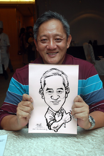 caricature live sketching for birthday party 220110 - 8