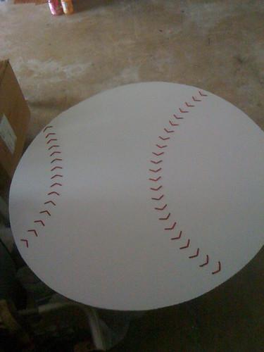 Baseball for bedroom wall