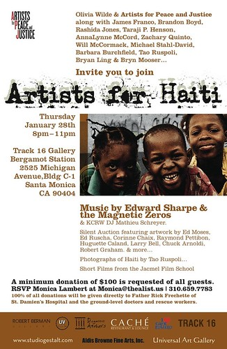 Artists for Haiti Track 16 Gallery