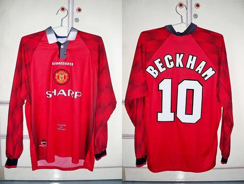 Manchester United 1996-1998 Home L/S (BECKHAM)
