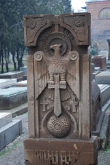 Gravestone - St Gayane Monastery - Echmiadzin, Armenia (jrozwado) Tags: church cemetery asia eagle armenia sword gravestone churchyard unescoworldheritage gravemarker armenianapostolic echmiadzin հայաստան orientalorthodox stgayane եջմիածին սուրբգայանե