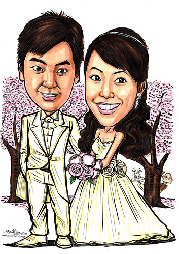 Couple wedding caricatures @ winter sonata A4