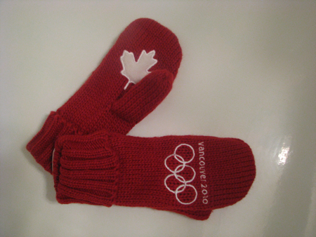 Red Mittens for the 2010 Winter Olympics