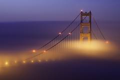 Foggy Sunrise At the Golden Gate Bridge (maxxsmart) Tags: sanfrancisco california longexposure winter color fog sunrise canon lights explore goldengatebridge bayarea marincounty february marinheadlands 2010 congrats mondaymorning ef70200f4l nofilters lockedgates crazybeautiful specialtome 5dmarkii thetouristinme expectingadifferentuploadtoday maybeboringtoothers rollingoutfast