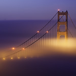 Foggy Sunrise At the Golden Gate Bridge