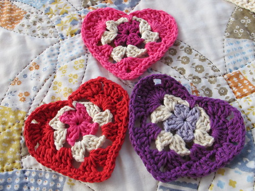 Colorful Granny hearts