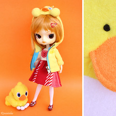 DDW 7/52 (Rinoninha) Tags: orange duck diptych dal pato tweety naranja chocobo sugarmag 752 dptico ddw nanaly dollydiotychweekly