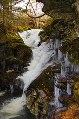 Acharn Falls-2 (bscphotography.co.uk) Tags: mountain snow ice river landscape scotland waterfall scenery forsale sale buy sell purchase tayside acharn wwwphotoboxgallerycombscphotography