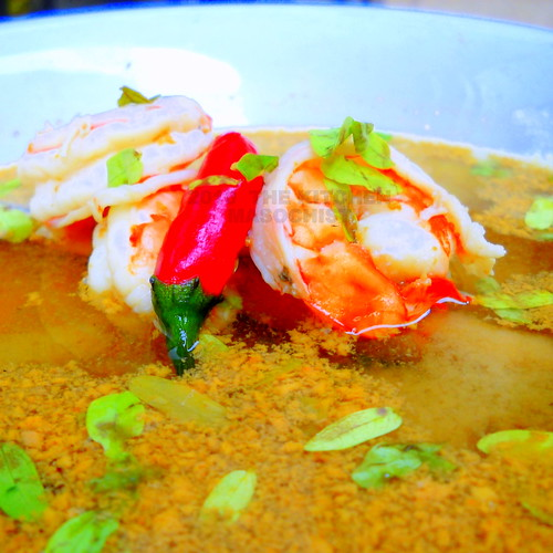 Hot And Sour Prawn Soup With Tamarind Leaves