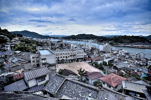 Onomichi City /HDR dark blue
