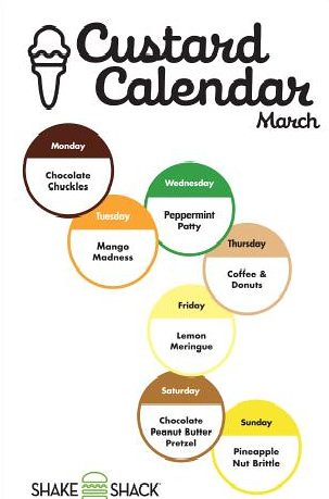 March Custard Calendar