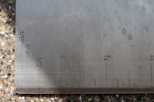 ruler on scraper