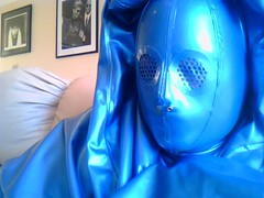 The Underlying Hood (latexladyll) Tags: blue fetish veil rubber latex submission burqa silenced gagged enclosure bdsmlifestyle