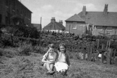 Image titled Irene Ross with Tom Gillespie ? Waterside Kirkintilloch ? 1958