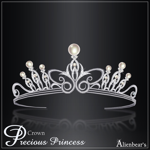 Precious Princess Crown white