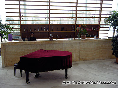We were surprised to see a grand piano at the lobby