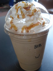 Blended caramel coffee with whipped cream | 92/365