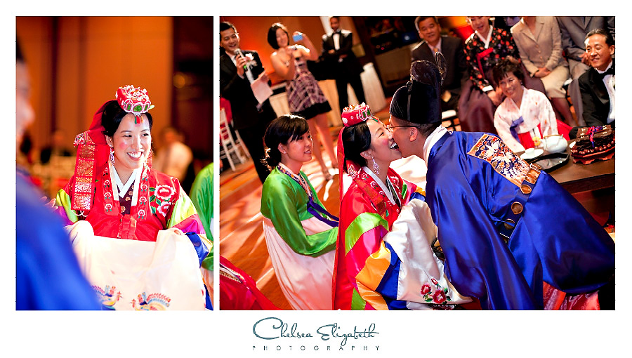 Paebaek Korean ceremony at wedding reception