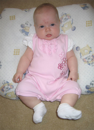Pretty in pink at 5 months