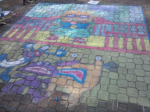 Alpha Xi Delta's Chalk on the Mall