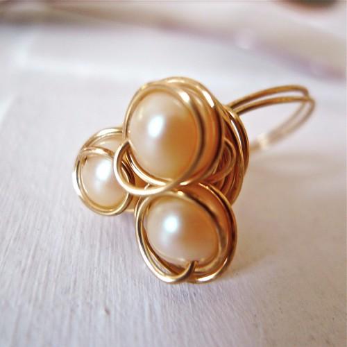 Pearl Trio Ring