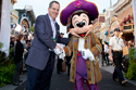 Disneyland Resort President, George Kalogridis and Mickey Mouse