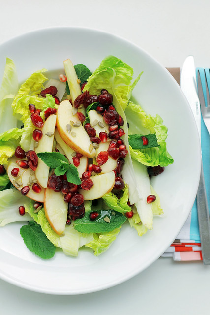 Apple, Pomegranate and Lettuce