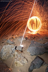 How to - wool orb (~ jules ~) Tags: longexposure light lightpainting beach wool circle fire wire globe julian sand nikon rocks call paint spin orb sigma marshall torch sphere round spinning jules sparks tutorial magnesium t7 wirewool lapp lenser d300s jayemphotography