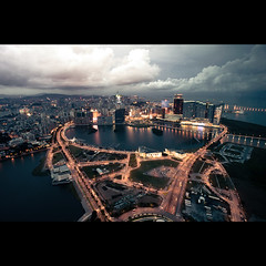 bustling Macau (bbq_0406) Tags: city light urban night cityscape traffic 5 sony busy macau 16mm nex bustling nex5