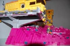 Platform (sander_koenen92) Tags: lego space mining tower lava platform outpost container ship crane crystals