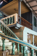 20161228 Cambodia 05045 2 (R H Kamen) Tags: cambodia cambodianculture indochina rivermekong southeastasia architecture balustrade banister builtstructure indoors rhkamen staircase