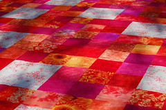 Bedroom quilt (yarnzombie) Tags: nikon quilt sewing cotton basting handdyed d40