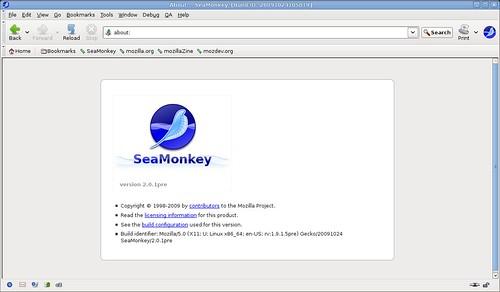 La page d'info de SeaMonkey 2.0
