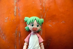 Happy Halloween! (KayVee.INC) Tags: sf sanfrancisco california ca cute halloween pumpkin toy actionfigure japanese jackolantern manga carving pumpkincarving kawaii figure figurine 2009 collectable kaiyodo yotsuba danbo  cavey revoltech kayvee  danboard 251009 kayveeinc revoltechyotsuba