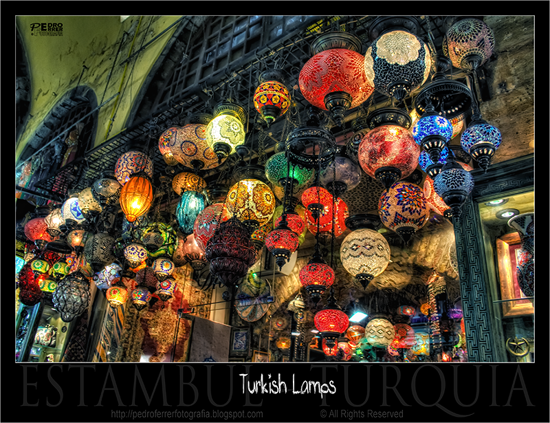 Lámparas turcas - Turkish lamps