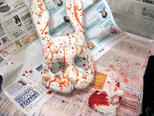 Bloody bunny Splicer mask