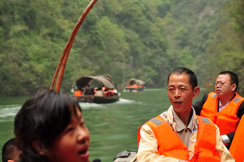 Cruise on inflow of Yangtze River