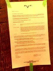 TV shoot notice for V on November 4, 2009 - 11...