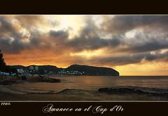 Amanece en el Cap d'Or. (Recesvintus) Tags: espaa beach spain torre playa alicante es espagne plage spanien mediterrneo meditarrenean nwn moraira costablanca marinaalta comunidad