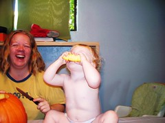 Ok so my kid loves to eat raw pumpkin.... (Ludeman99) Tags: sarah halloween2009 eowynlouisebitner