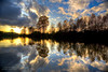 Fall Afternoon (Russ Beinder) Tags: sunset sun reflection water silhouette topv111 clouds sunrise river bc topc50 coquitlam hdr portcoquitlam photomatix portmannbridge colonyfarmregionalpark 2009110700007